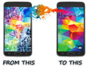 cracked screen before and after